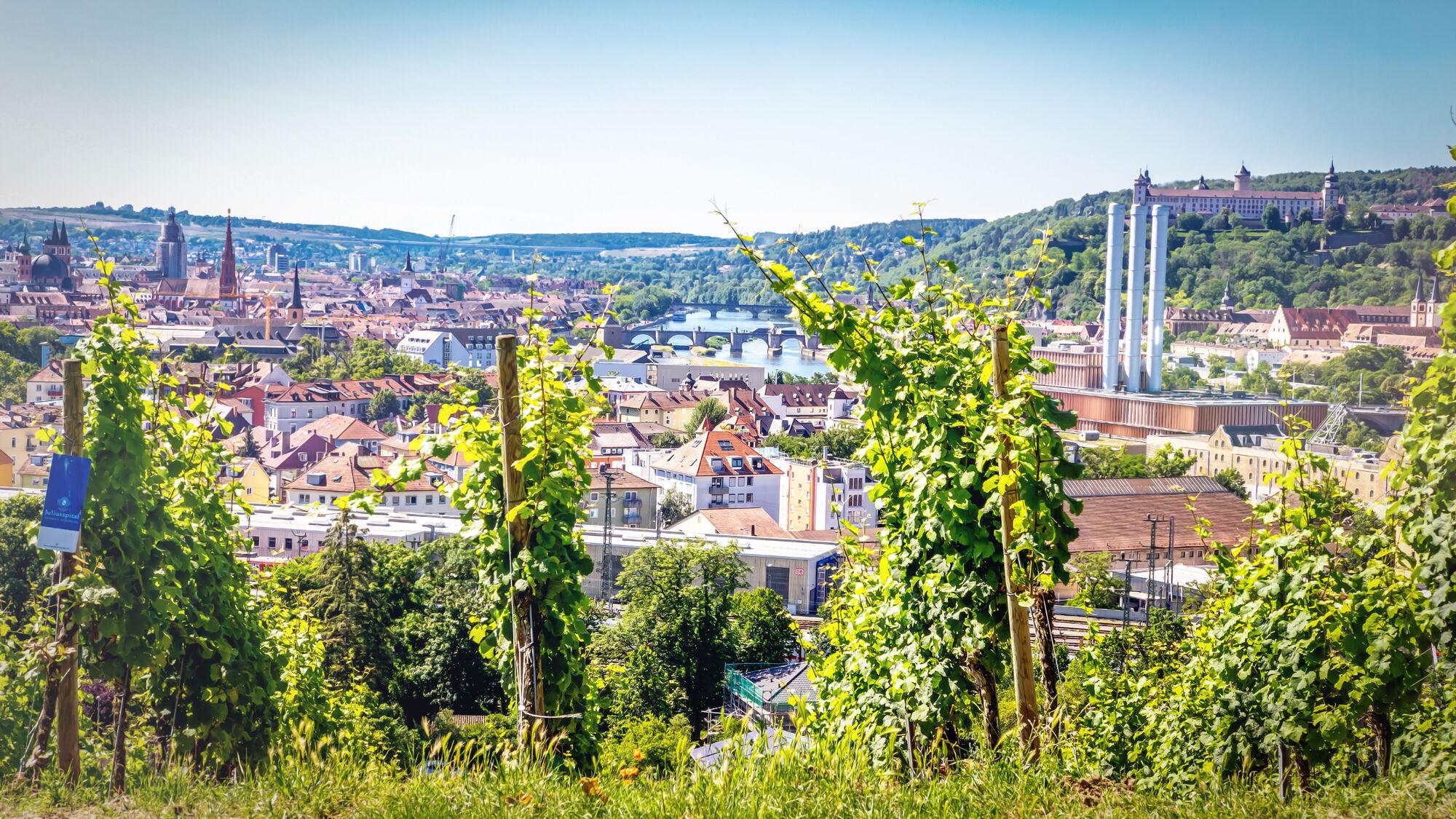 Foto: Blick über Würzburg